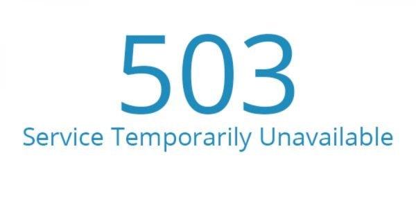 От чего появляется ошибка 503 на сайте WordPress